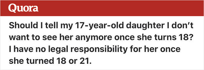 Parent Asks How To Tell Her Kid She Doesn't Want To See Her Anymore Once She Turns 18, Gets Shut Down