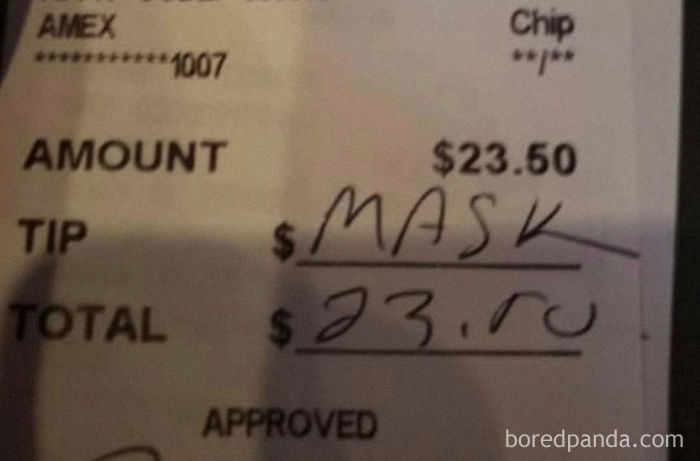 Pennsylvania Server Finds This After Asking Customer To Wear Their Masks Until They Were Seated