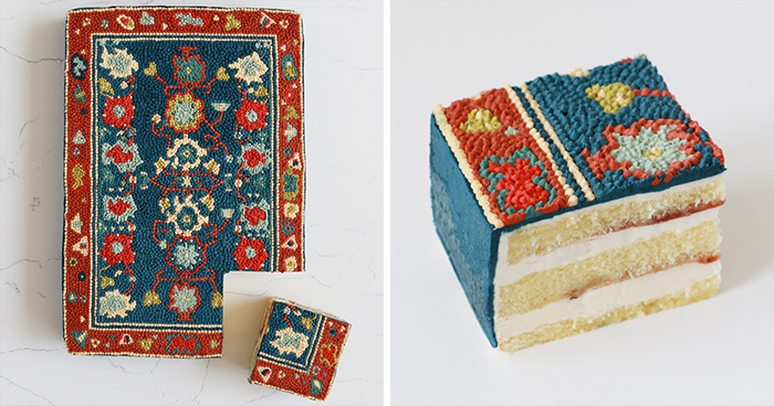 LA-Based Baker Creates Stunning Cakes That Look Like Fancy Persian Rugs