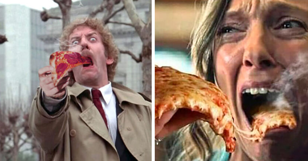 People Photoshop Steaming Pizzas Into Horror Movie Screams And It's Like A New Genre (24 Pics)