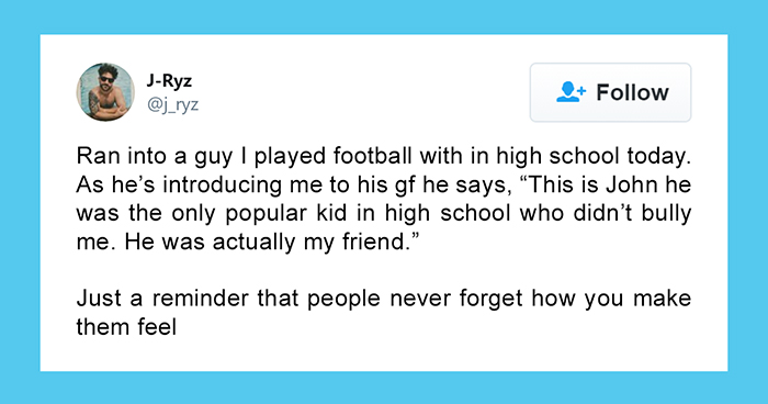 24 People Share Their Bully Stories After This Guy Tweeted How He Was Introduced As 'The Only Kid Who Didn't Bully Me'
