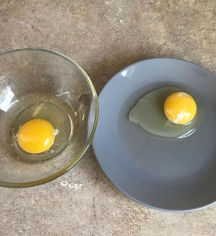 I Thought Pregnancy Brain Was Fake. It's Not. To Make Scrambled Eggs This Morning, I Cracked One Egg In A Bowl And The Other On A Plate