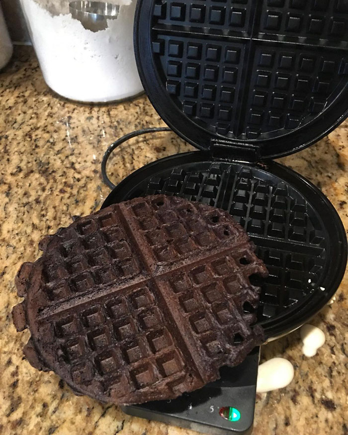 I'm Not Saying That She Has Pregnancy Brain. I Mean It's Also Possible That She Made Chocolate Waffles. Either Way It Smells Like A Delicious Campfire In Our Kitchen