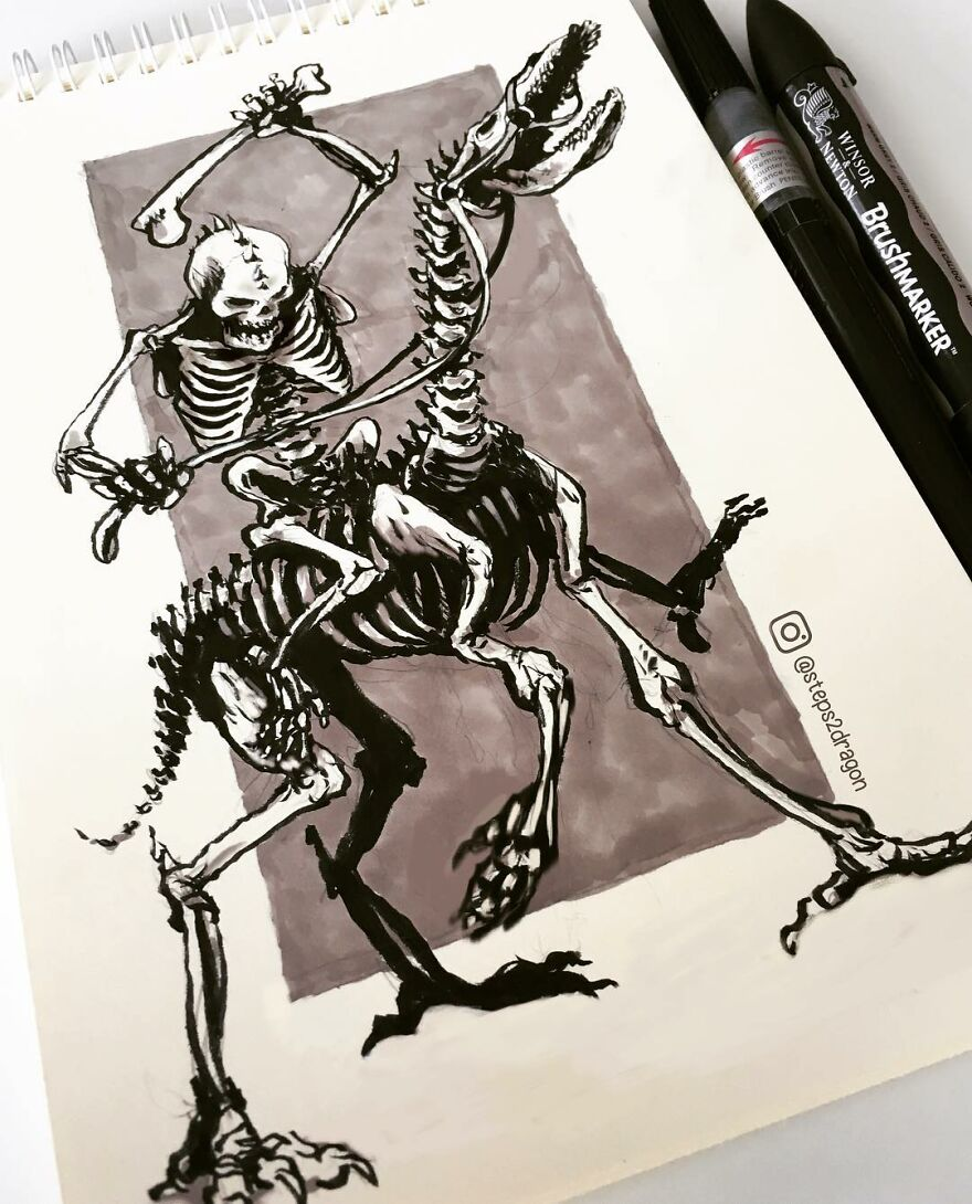 Russian Artist Creates Dark And Macabre Illustrations That Seem To Come Out Of A Nightmare