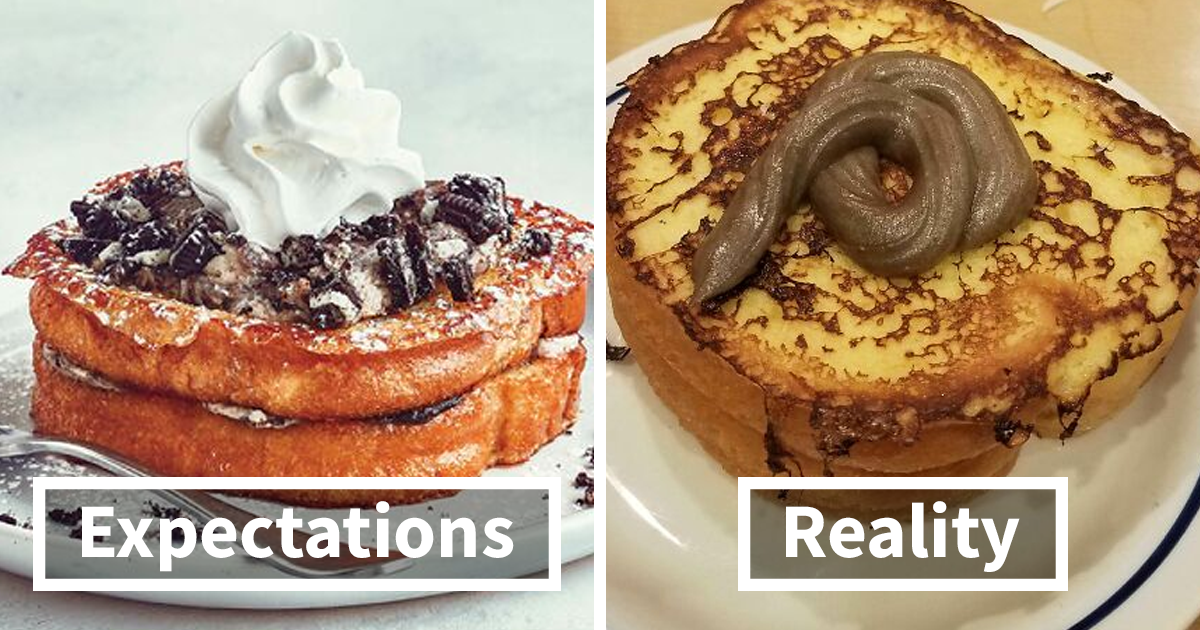 70 Side-By-Side Comparisons Of The Food Restaurants Advertise Vs. What They Actually Serve