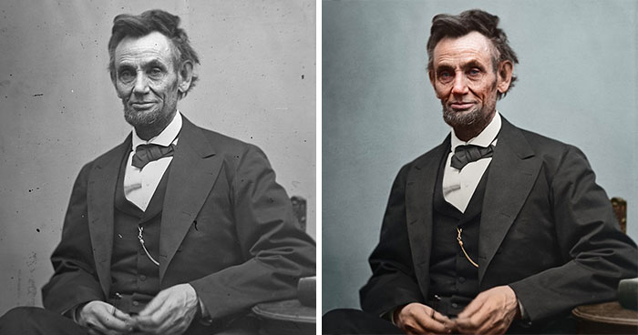 Artist Breathes New Life Into Photos Of US Presidents Who Lived Before Color Photography (26 Pics)