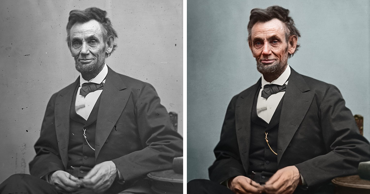 Artist Restores And Colorizes Images Of Every US President That Lived Before Color Photography, Does An Impressive Job