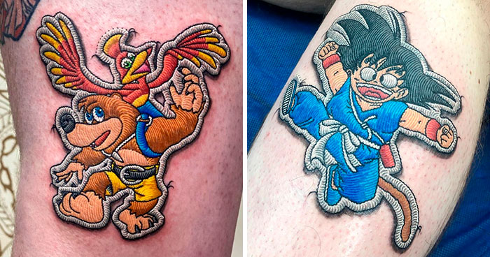 Artist Creates Tattoos That Look Like Sewn-On Patches And Here're 30 Of His Most Impressive Works