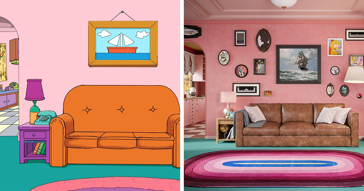 Here's What The Simpsons Interiors Would Look Like If Wes Anderson Designed Them