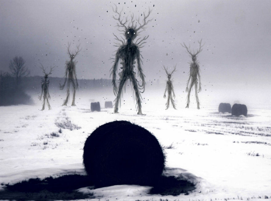 They Suddenly Appeared In The Mist