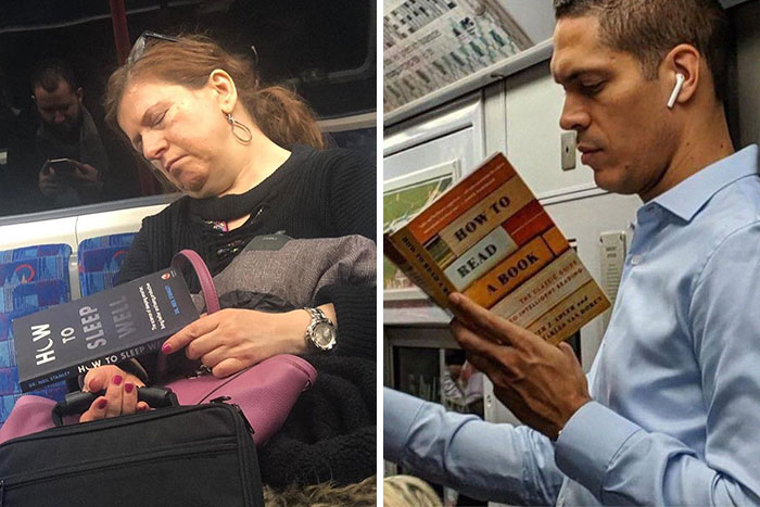 30 Times Commuters Saw Others Reading Such Strange Books While On The Subway, They Just Had To Document It