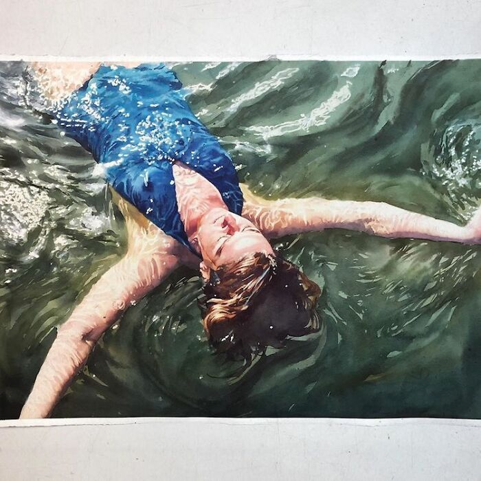 Watercolor-Swimmers-Painting-Marcos-Beccari