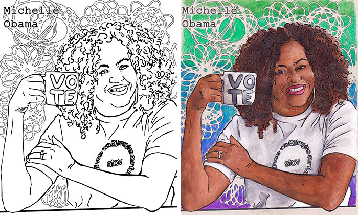We Are Awesome: I Create Coloring Pages Of Powerful And Inspiring Women (35 Pics)