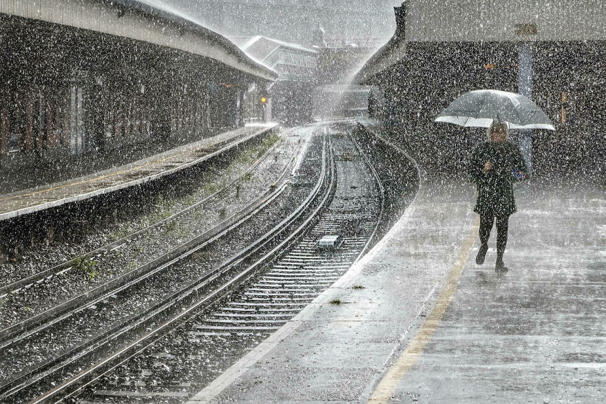 Finalist 'Just Walking In The Rain' By Adrian Campfield