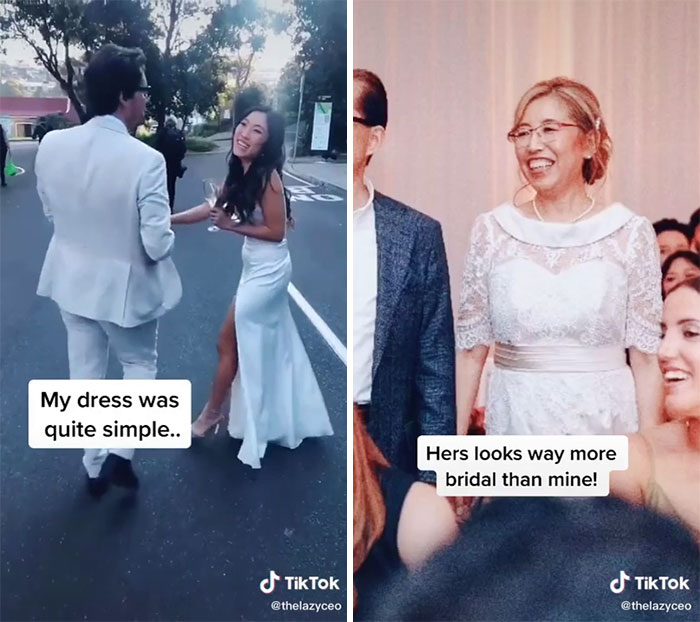 Mother Of Bride Wearing Bridal Gown!