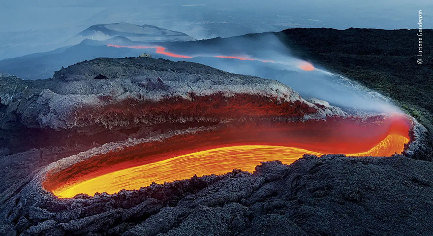 "Earth's Environments Winner: ""Etna's River Of Fire"" By Luciano Gaudenzio"