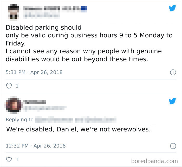 Disabled Parking Should Only Be Valid During Business Hours 9 To 5