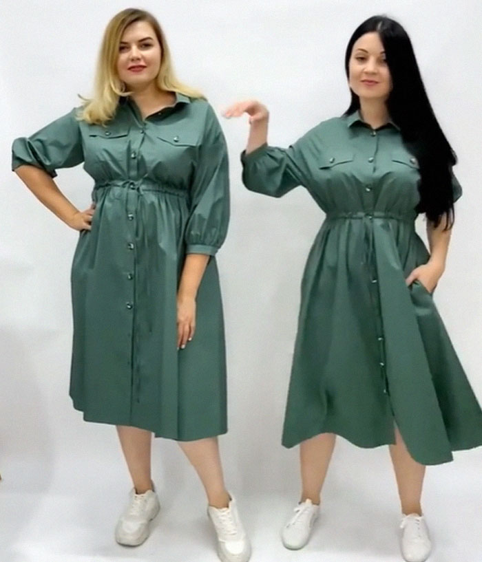 Women Compare XL And XS Sizes Of The Same Clothes, And Their Photos Go Viral