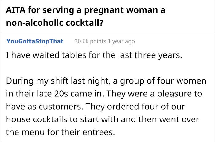 Restaurant Server Secretly Gives Pregnant Woman Non-Alcoholic Cocktails, Faces Backlash Online 4
