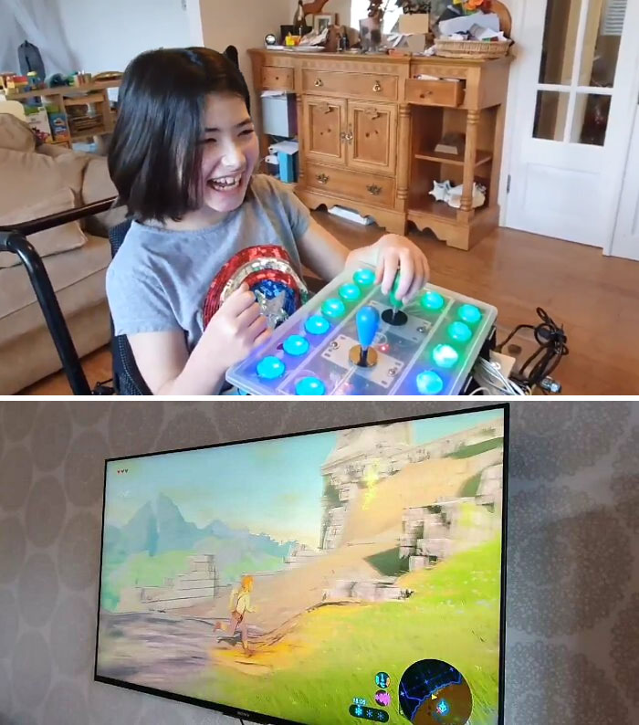 Wholesome 100!! Dad Made Custom Controller For Her Specialy Abled Daughter So She Could Play Zelda: Breath Of The Wild