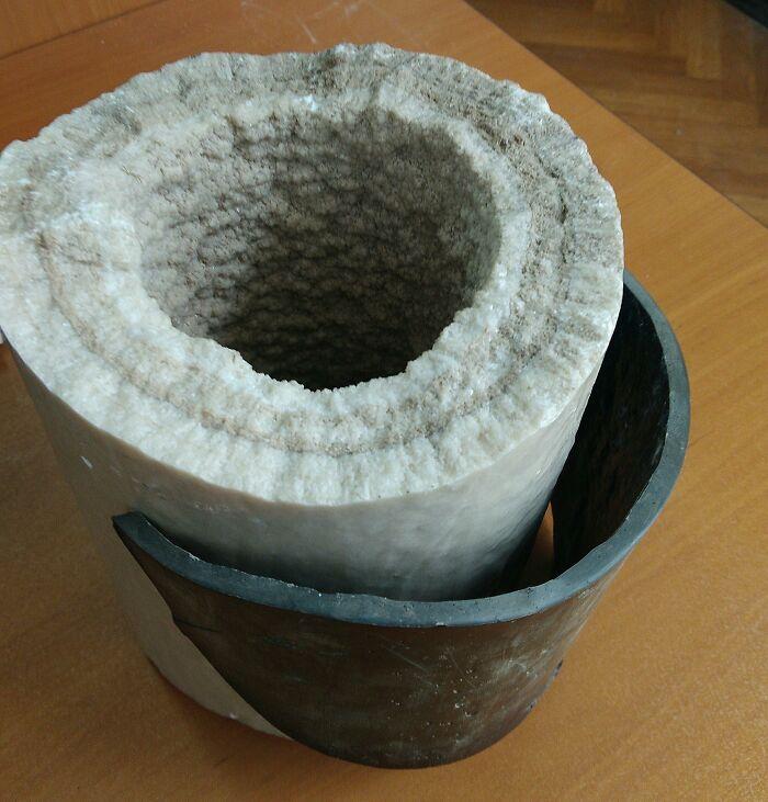 Sedimentos de calcio en esta tubería