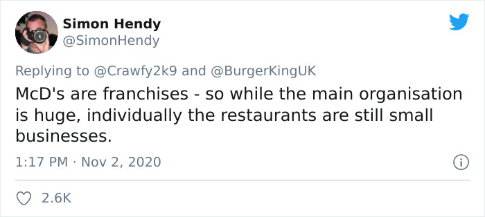 As Lockdown Approaches, Burger King Takes To Twitter To Encourage People To Buy From McDonald's And Other Fast Food Chains, But People Are Divided On It