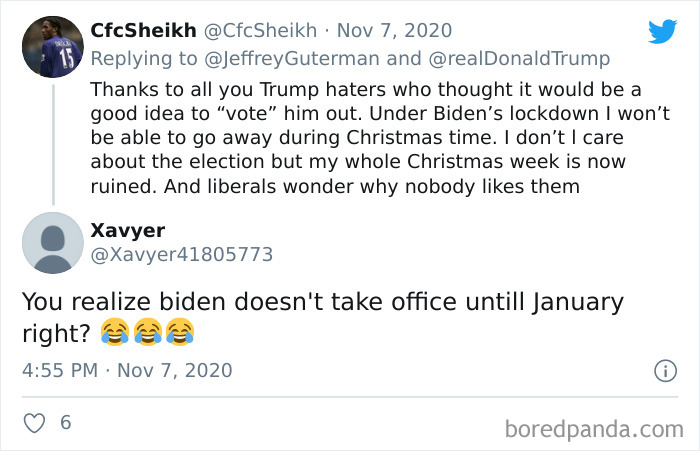 Trumps Last Tweet Saying He Won Is A Goldmine For This Sub