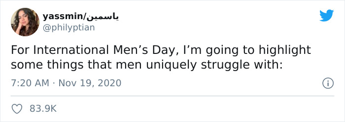 Woman Lists 'Things That Men Uniquely Struggle With' (23 Tweets) 3