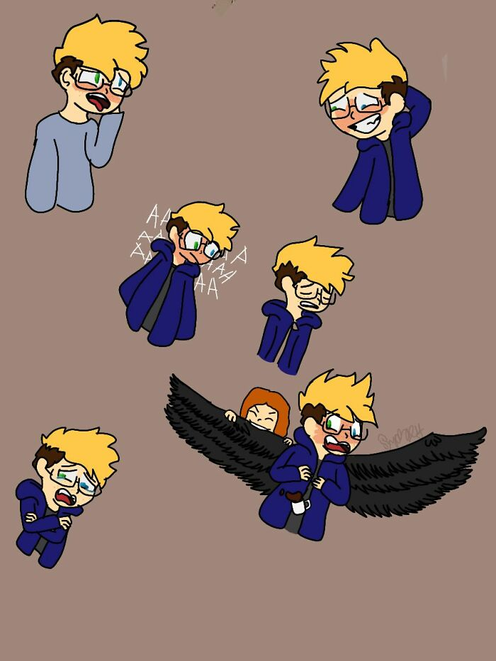 Sketch Page Of My Boy Liam. I'm Really Proud Of It