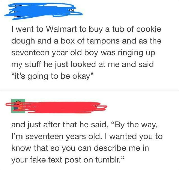 It's True, I Was The Box Of Tampons