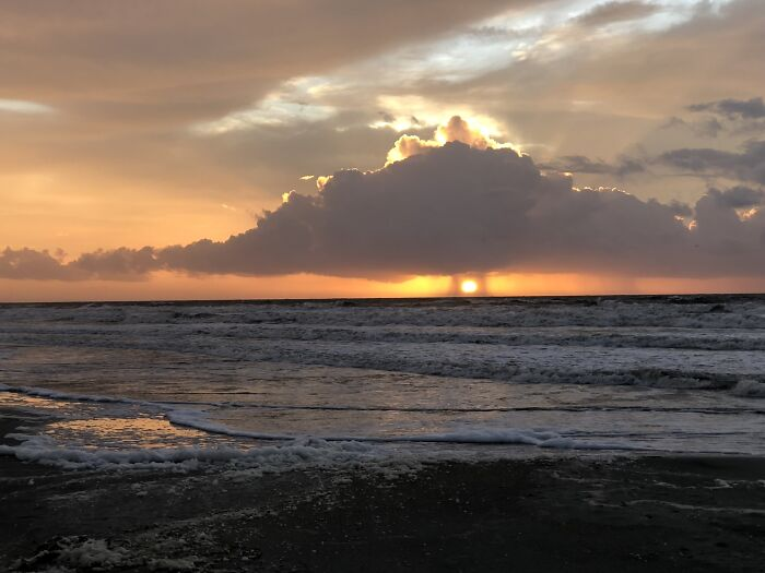 Rain On Either Side Of The Sun, Just Before Hurricane Michael Came Ashore