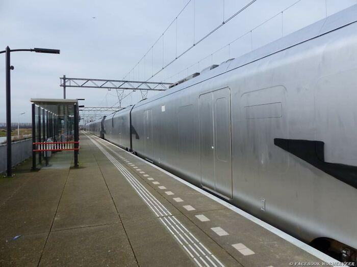 Unos vándalos pintaron de plateado por completo este tren en Holanda