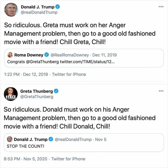 A Compilation Of Times Where Greta Thunberg Used Donald Trump's Own Words As A Comeback