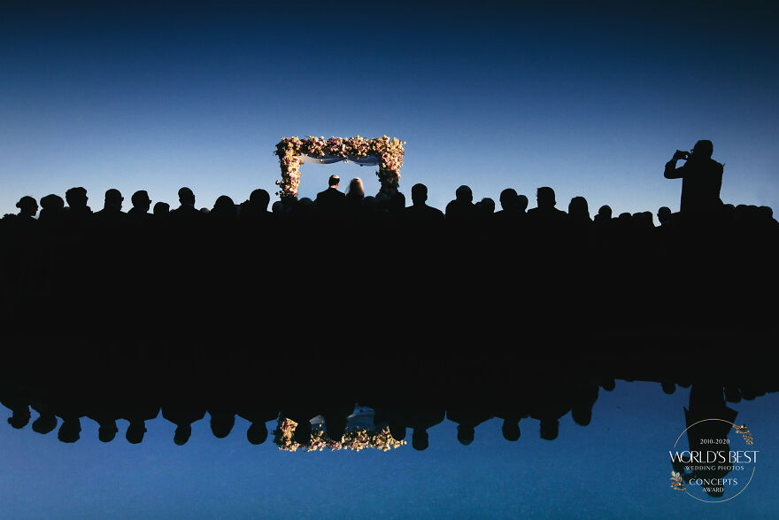 This Expertly Lit Silhouette Of A Wedding Ceremony By Callaway Gable