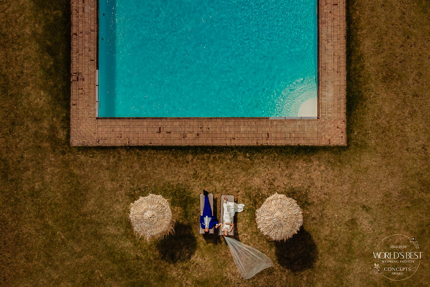 This Wedding Day Drone Shot That's Satisfyingly Symmetrical By Eppel Fotografie