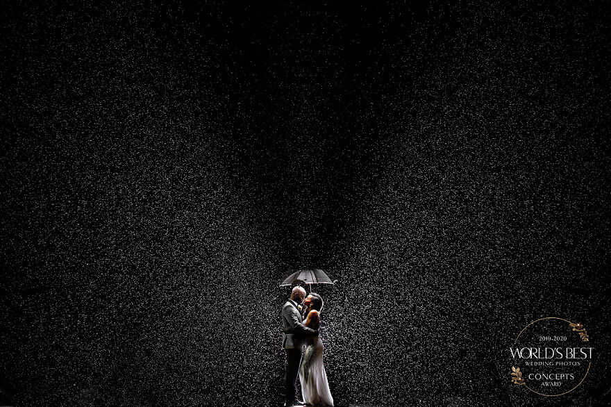 Rain On Your Wedding Day Brings Photos Like These! Photo By Joshua Dwain