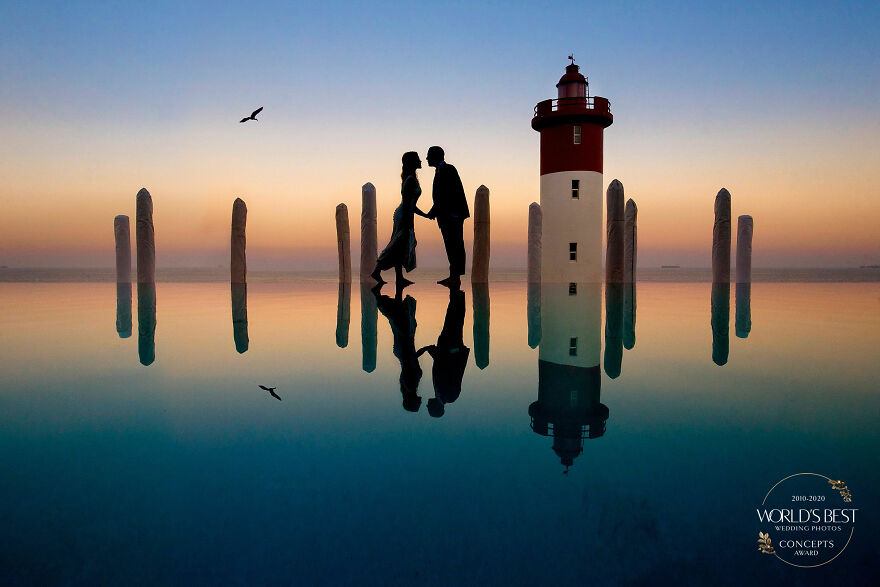 This Romantic, Clean And Colorful, Reflective Silhouette By Jacki Bruniquel