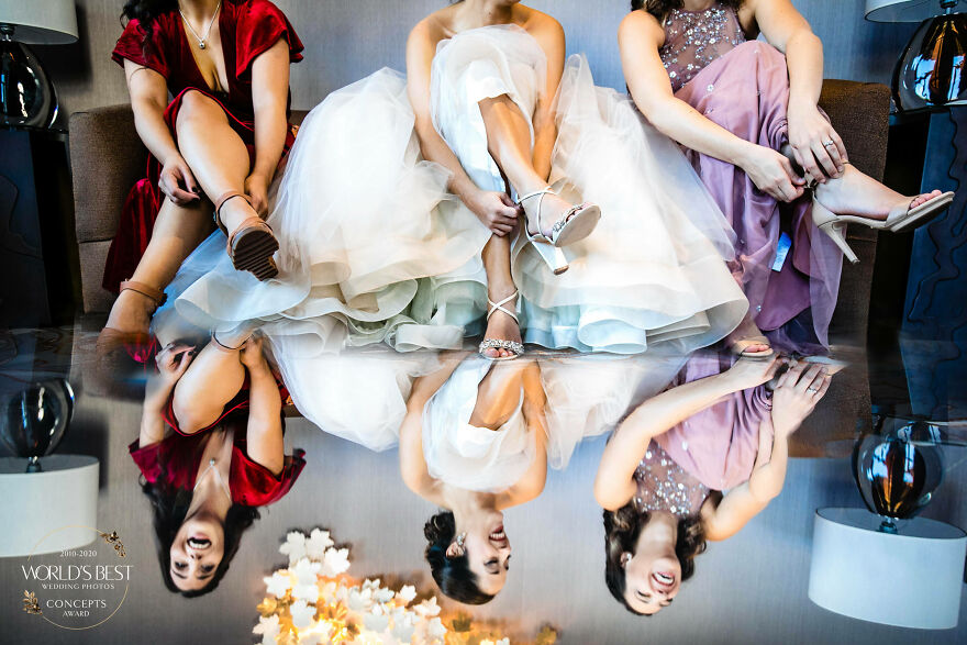 This Joyful Reflection Of A Bride And Her Bridesmaids By Marissa Joy