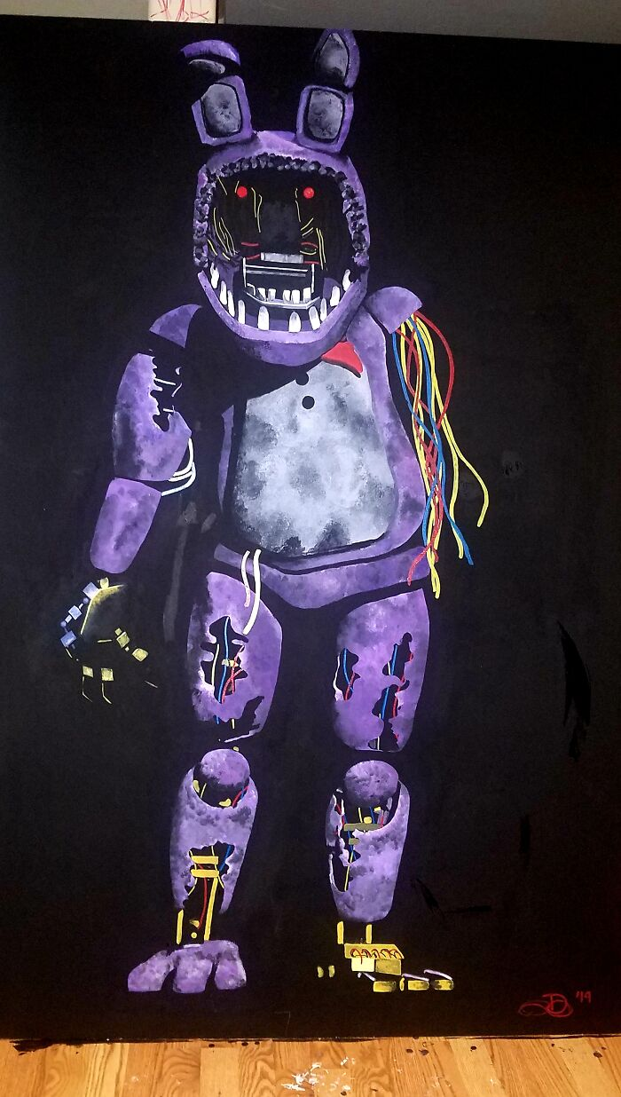 6ft By 4ft Mangled Bonnie For My Halloween Set Up