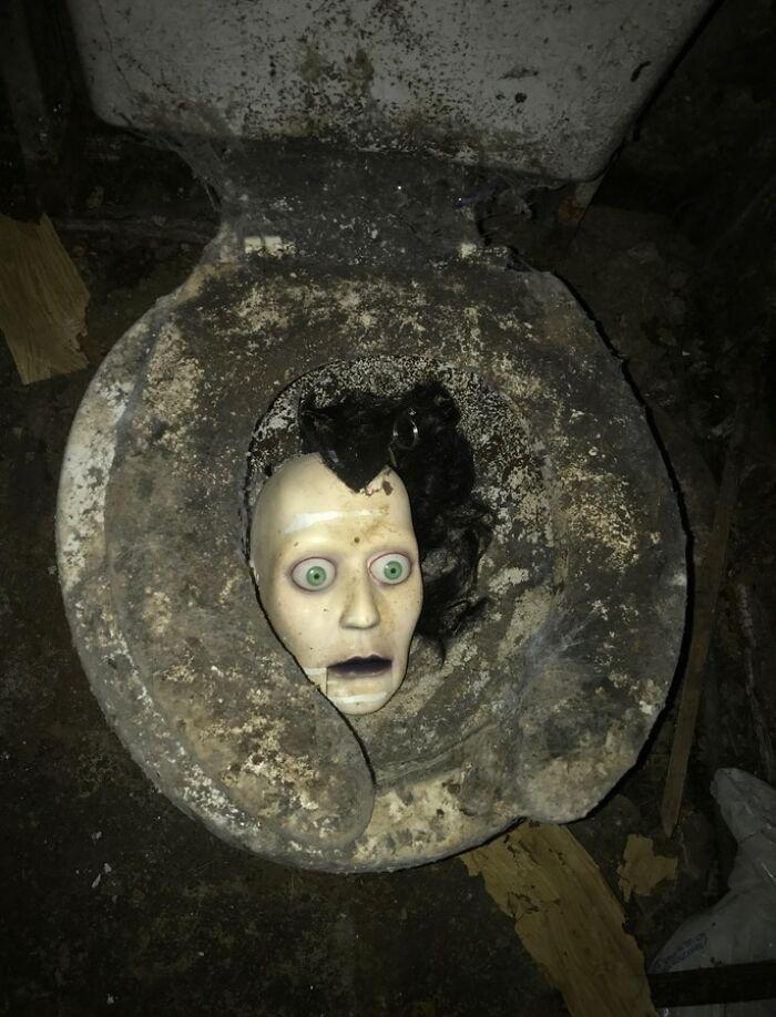 Compré una casa abandonada para renovarla y encontré esto en el cuarto de baño