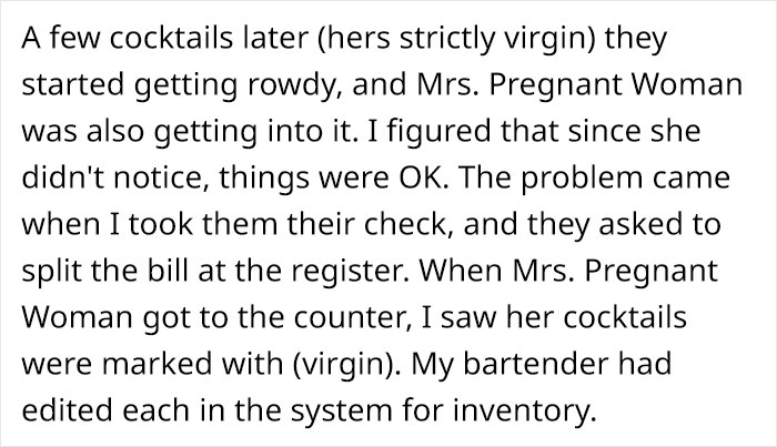 Restaurant Server Secretly Gives Pregnant Woman Non-Alcoholic Cocktails, Faces Backlash Online 7