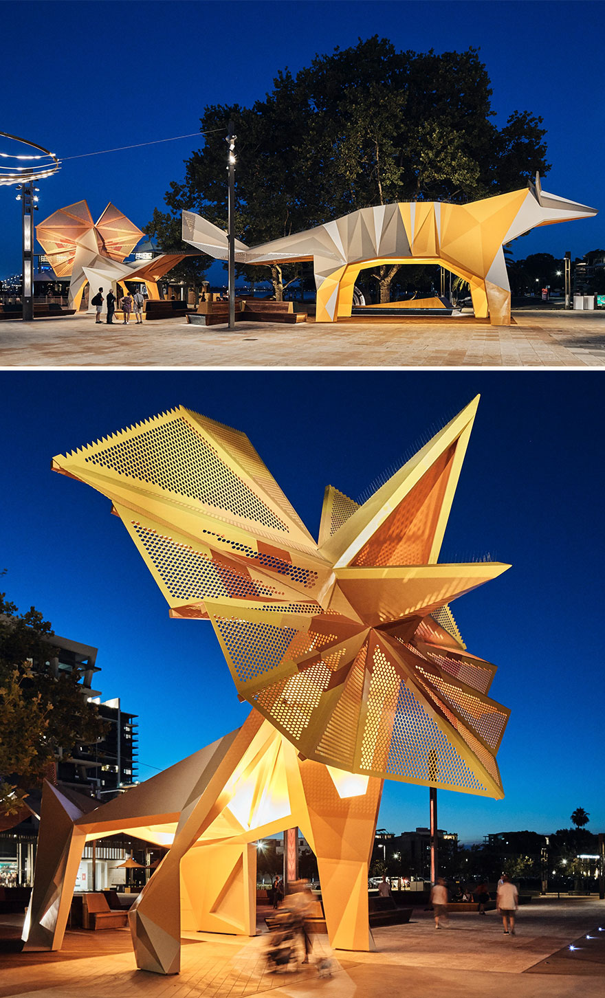 South Perth Mend Street Animal Canopies (Best In Installations & Structures, Landscape Design)