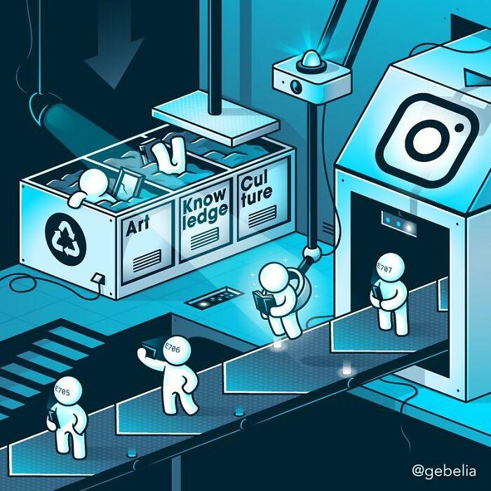 Makine Elia Colombonun Düşündürücü 30 Çizimi - www.dergikafasi.com