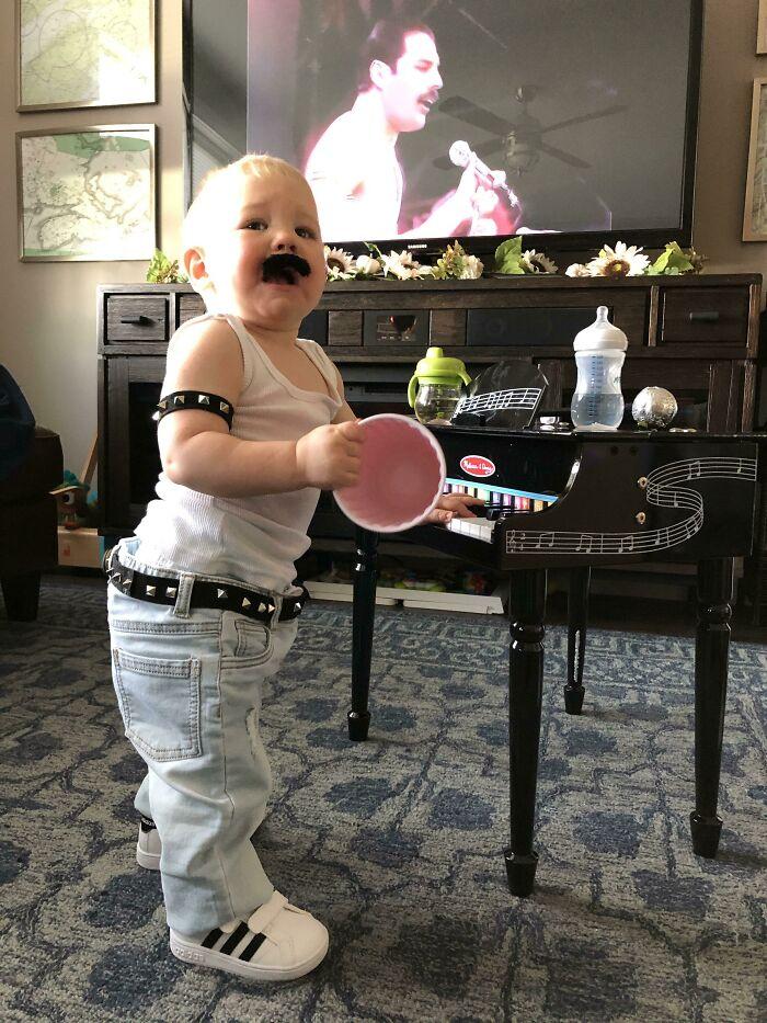 My Boy Was Freddie Mercury For Halloween