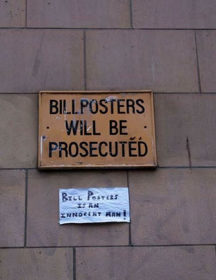 Bill Posters Is Innocent!