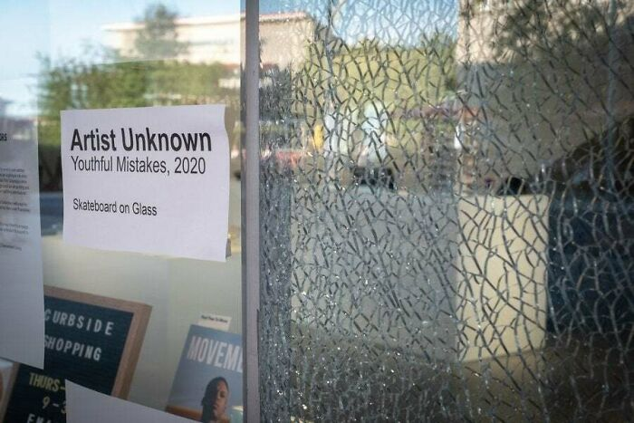 Smashed Window Becomes Public Art At North Vancouver Gallery