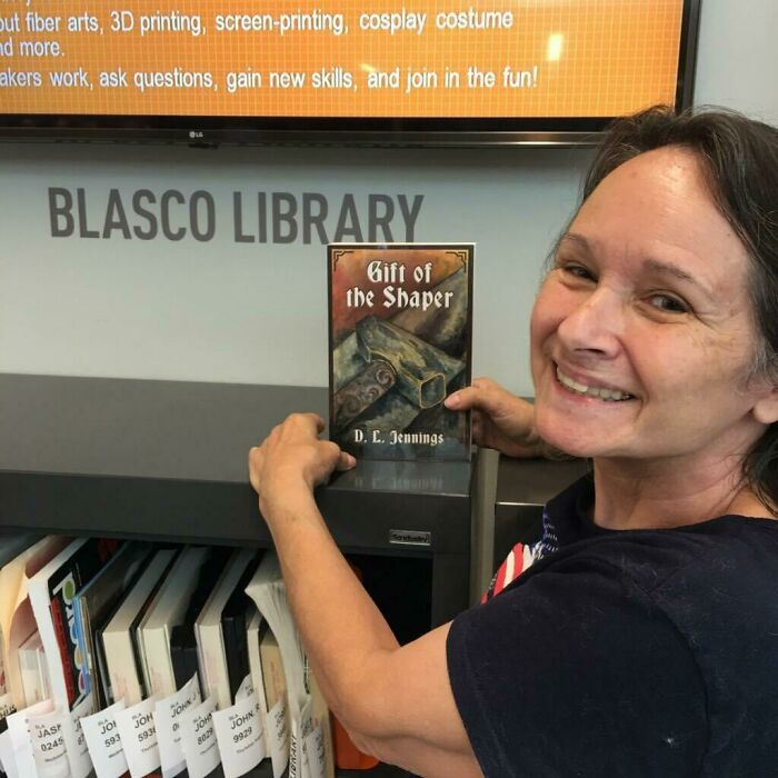 My Mom Found My Book In Her Local Library And I Can't Get Over How Proud She Looks