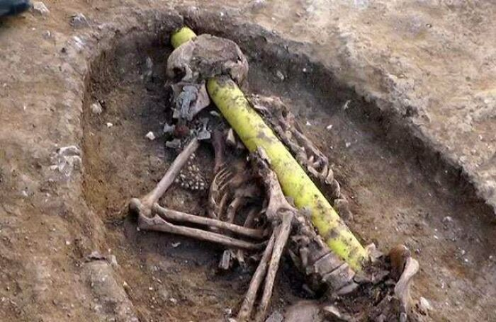 This Power Line Happened To Be Laid Straight Through The Skull Of An Anglo Saxon Woman Buried In A Previously Undiscovered 6th Century Graveyard