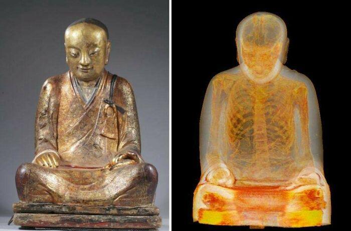 Dentro de esta escultura de buda de hace 1000 años hay un monje momificado