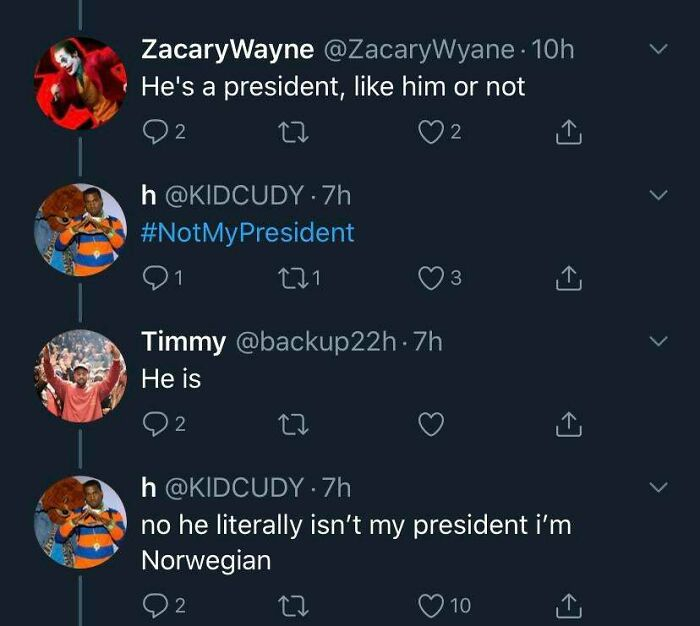 Not His President